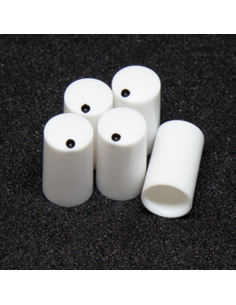 Knob - Miniature, white, 7.5mm x5 units