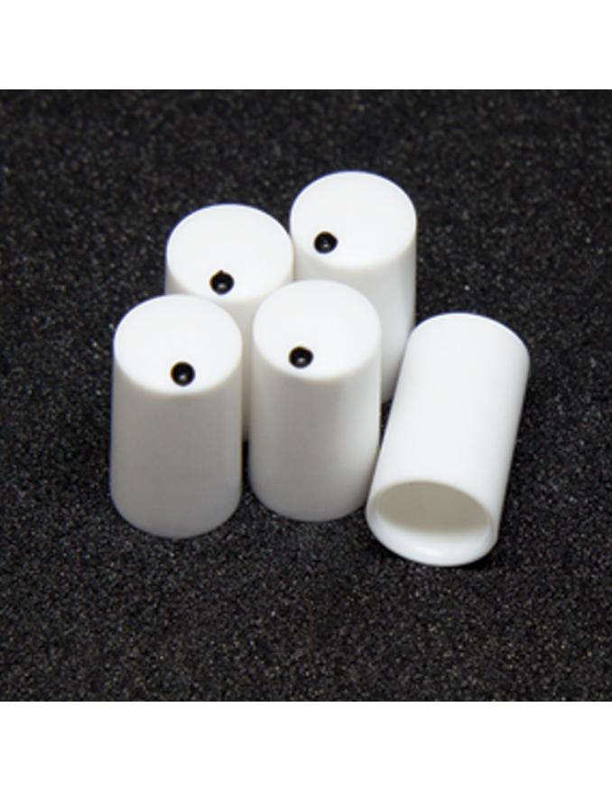 Knob - Miniature, white, 7.5mm x5 units