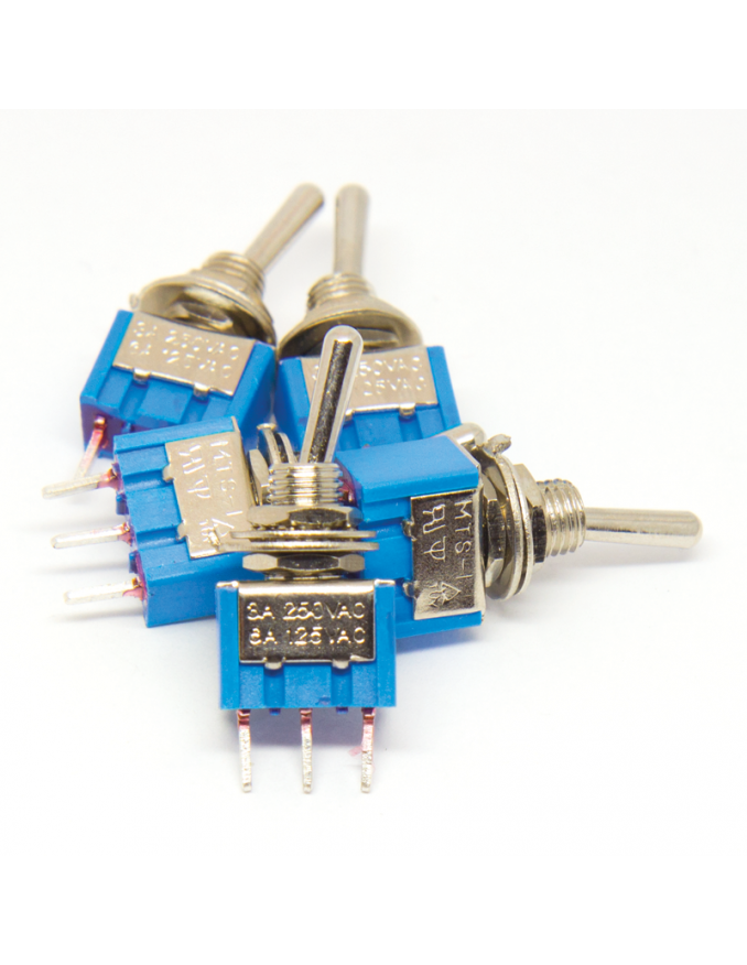 Toggle Mini Switch - SPDT ON-ON x5 units