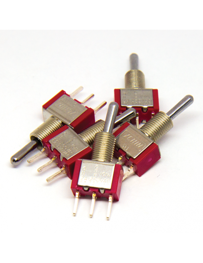 Toggle Switch - SPST ON-OFF-ON x5 units