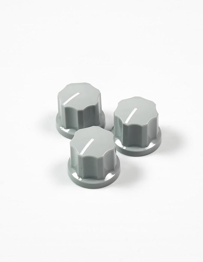 Knob - Fluted/MXR-style, Light Grey,...