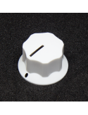 Knob - Fluted/MXR-style, White, Large (25mm) x3 units