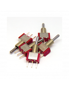 5x SPST Toggle Switch (ON)-OFF-(ON)