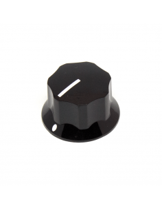 Knob - Fluted/MXR-style, Black, Large (25mm) x3 units