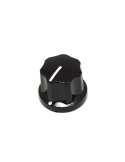 Knob | Fluted/MXR-style, Black, Medium (19mm) | x3 units