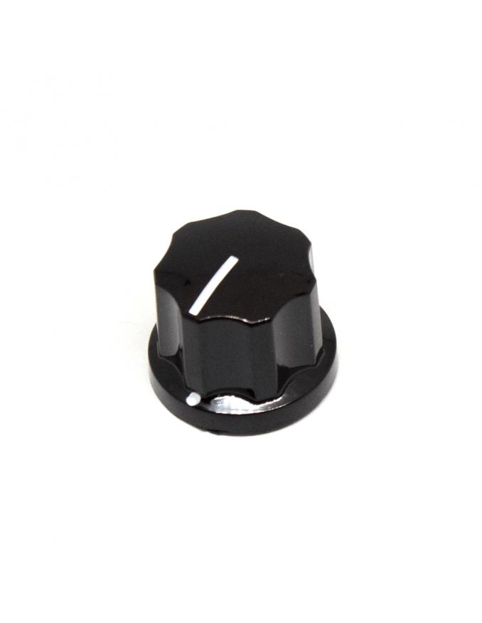 Knob | Fluted/MXR-style, Black, Medium (19mm) | x3 units