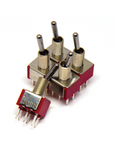 Toggle Switch - 2PDT ON-ON x5 units